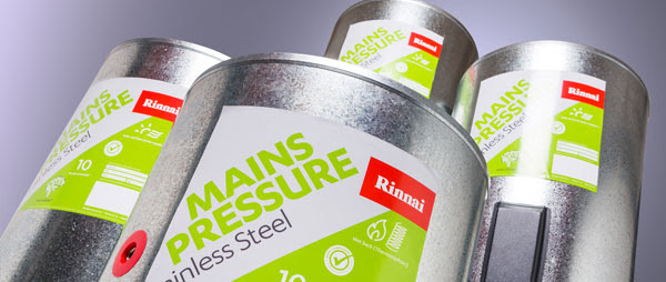 The New Rinnai 190L Stainless Steel Wetback Cylinder